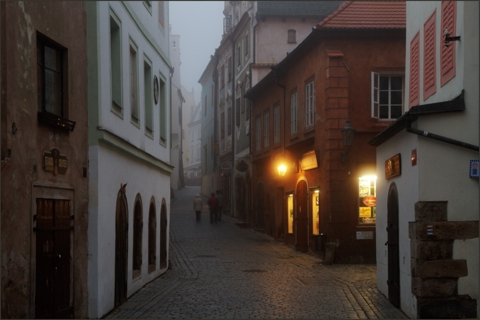 Foggy morning in the old city