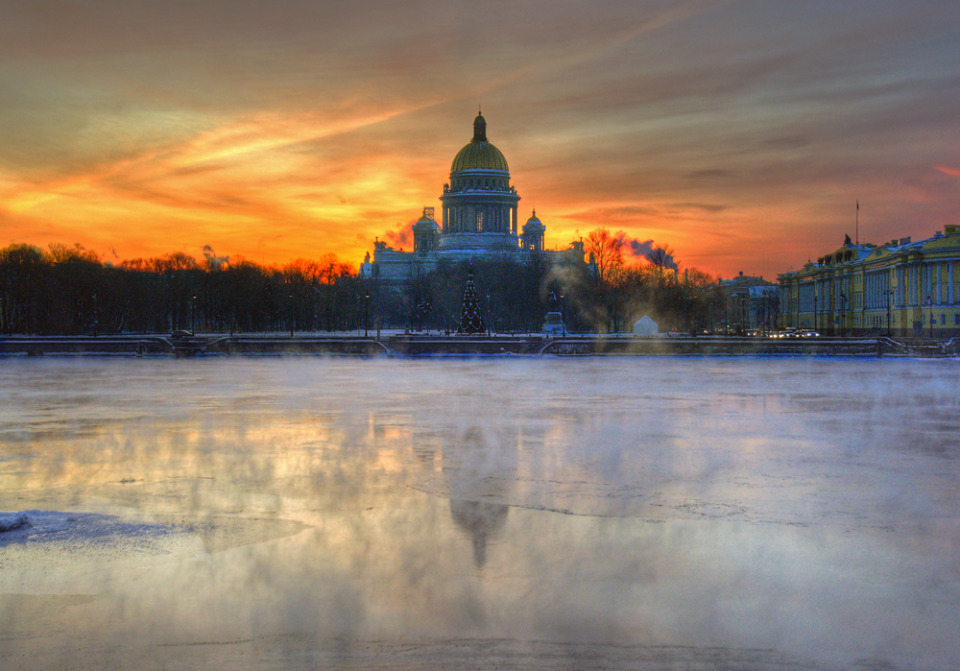 Neva River at dawn