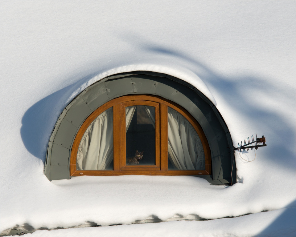 snow-bound house