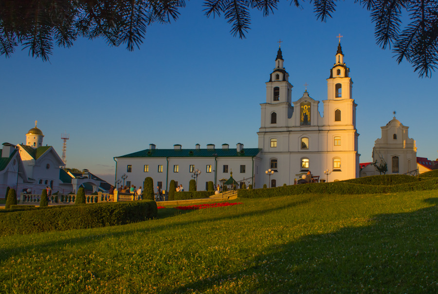 Holy Spirit Cathedral in the evening, Minsk