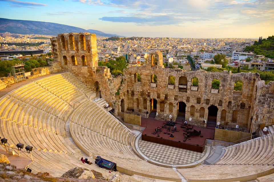 Ancient theatre | ancient theatre, Athens, Greece, city