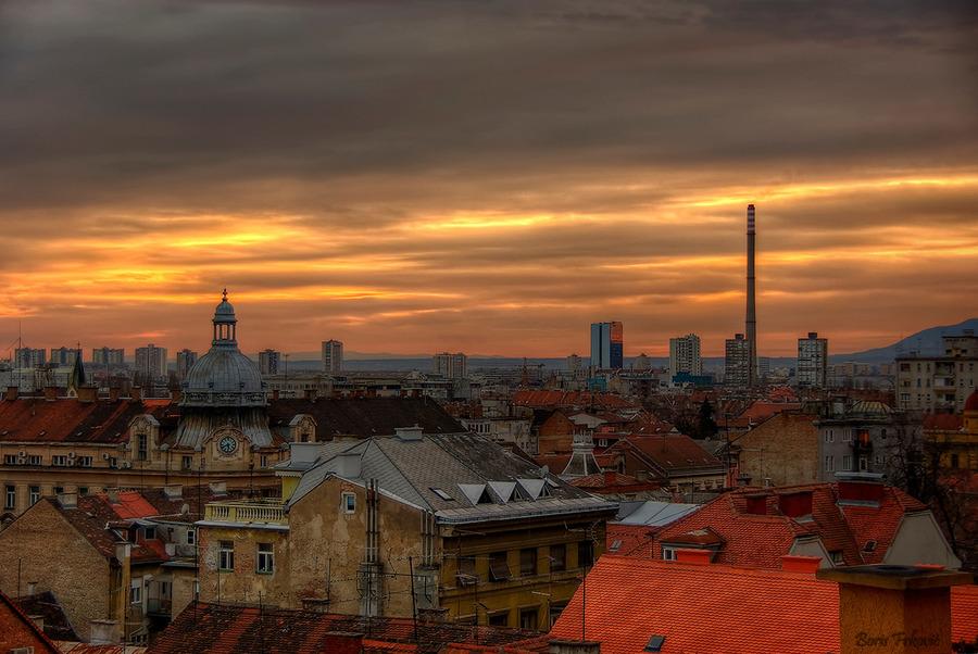 Twilight in Zagreb