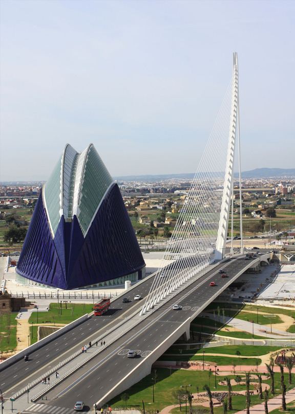 Pont l'Assut de l'Or (Santiago Calatrava) | City, of, Arts, and, Sciences, in, Valencia