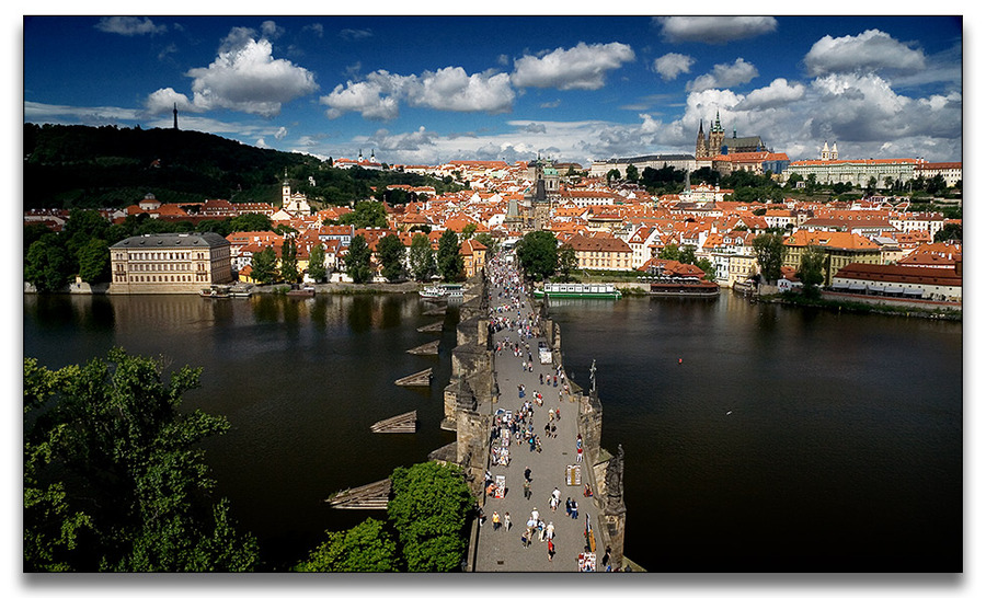 Prague - view from tower of Charles bridge